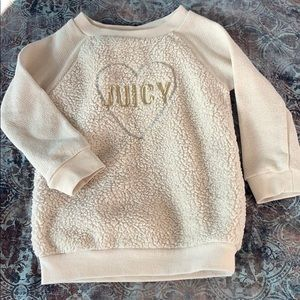 Girls Juicy Couture sweater size 4T